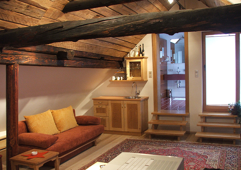 Nowadays The Former Barn In The Upper Floor Is A Spacious Living Room Gallery View